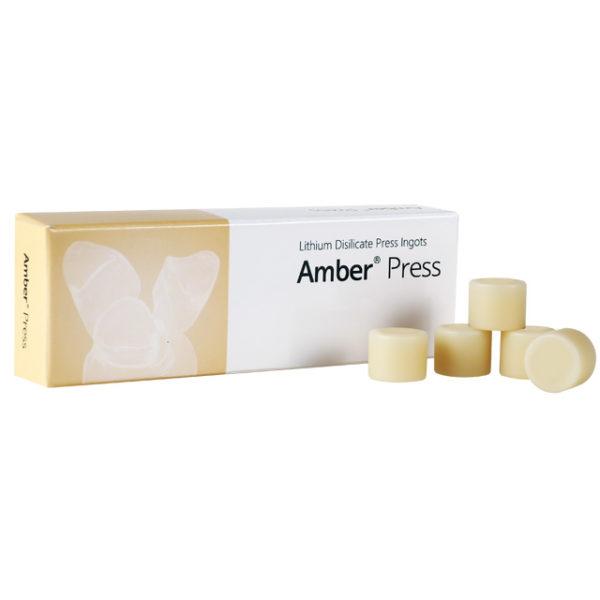 Amber Press Nanolithium-Disilicate Glass Ceramics